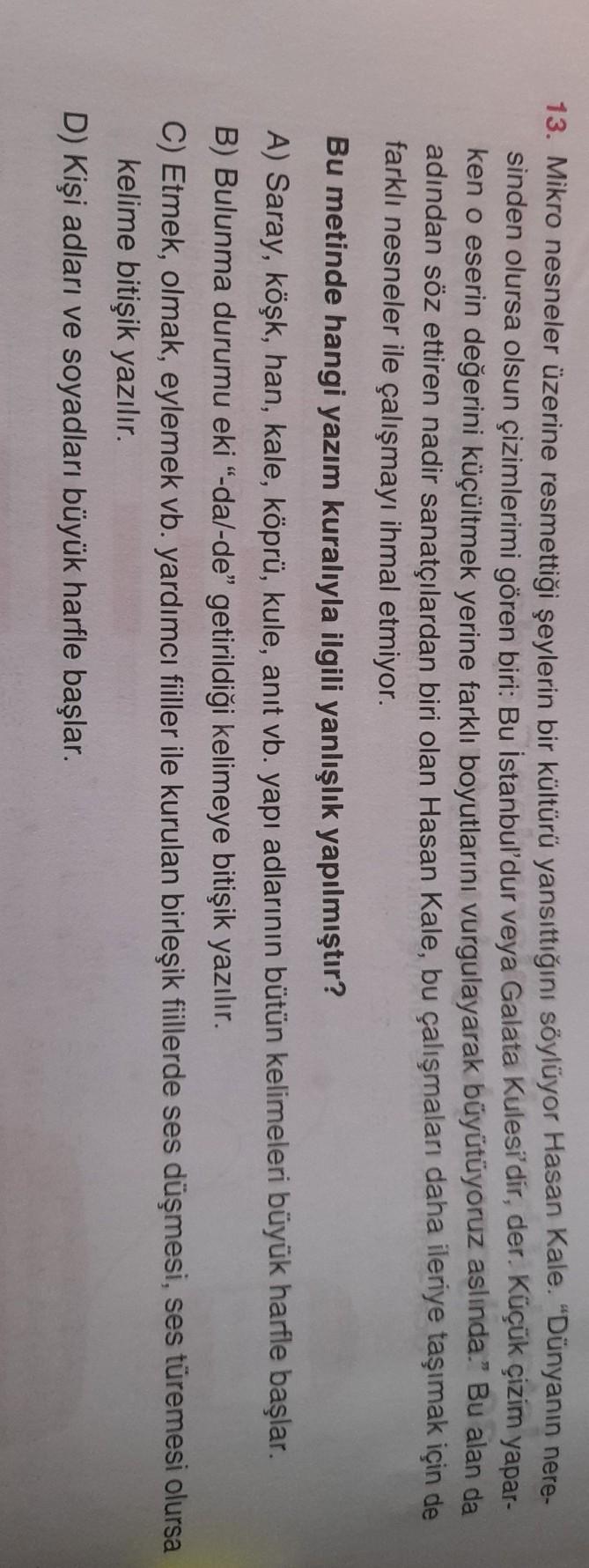 """13. Mikro nesneler üzerine resmettiği şeylerin bir kültürü yansıttığını söylüyor Hasan Kale. """"Dünyanın nere- sinden olursa olsun çizimlerimi gören biri: Bu İstanbul'dur veya Galata Kulesi'dir, der. Küçük çizim yapar- ken o eserin değerini küçültmek yerine"""