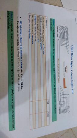 7.Sım Haber Kipleri Çalışma Kagidi PDF Klasikhoco.com AM Adw Adam Et Haber kipleri Saluma kad Adum 1 Asagidaki cilmlelerde kalın yazılmış sözelikleri inceleyiniz ve fiil mi isim mi olduklarını isaretleyiniz. Fiil Isim Cümleler Arkadaşlarla maç yapmayı sevi