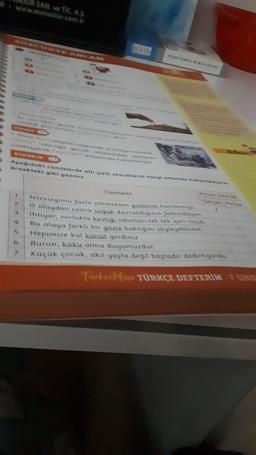 SAN. VE TİC.AS. www.monostar.com.tr Onun sayesinde Docugu gercek anlamdon comme aklayarak oynanamında kullanma ETKINLIK AS sagidaki cümlelerde a LE SOZCklerin hangi anlamda ta ornekteki gibi yazın Cümleler 1 2 3 Get Televizyonu fazla izlemekten gozleram ka